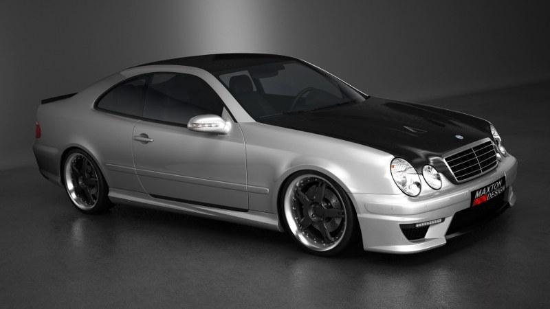 Dokładki Progów Mercedes CLK W208 - GRUBYGARAGE - Sklep Tuningowy